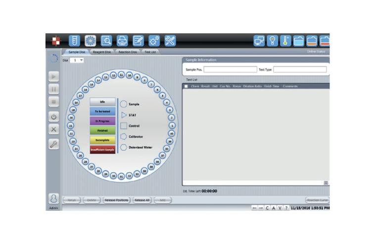 ANTICIPAZIONE DEI PROBLEMI- Visualizzazione delle curve di reazione in tempo reale- Controllo di qualità integrato con grafici intuitivi- Allarmi di controllo lampada e liquidi